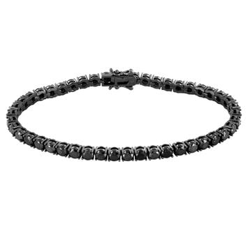 Black Lab diamond 4mm One Row Tennis Bracelet