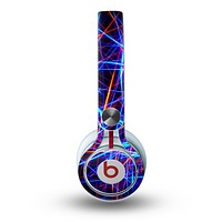 The Neon Glowing Strobe Lights Skin for the Beats by Dre Mixr Headphones