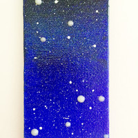 Leo Constellation Painting Magnet in Acrylic Glow in the Dark