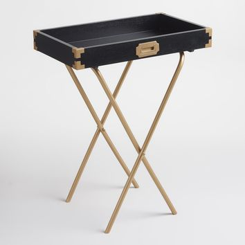 Black and Gold Butler Tray