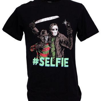 Freddy krueger VS Jason Selfie Battle Nightmare Man T-Shirt
