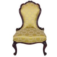 One Kings Lane - Vintage + Market Finds - Victorian Chair, Chartreuse-Gold