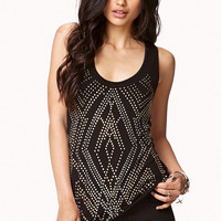 Metallic Studded Tank