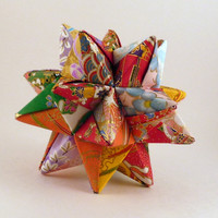 Origami Star Quilted Star Ornament by CreativeLifeByEmily on Etsy