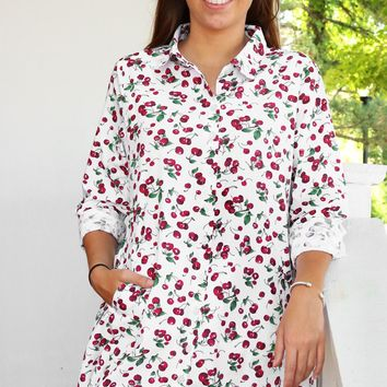Dixie Tunic- Cherries by Tulip Clothing