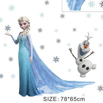 Frozen Movie Wall Decal Stickers Kids Room Cartoon Decals Art Elsa Children