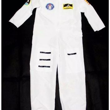 space suit boys space costume halloween costumes for children white uniform costumes halloween suit performance clothing