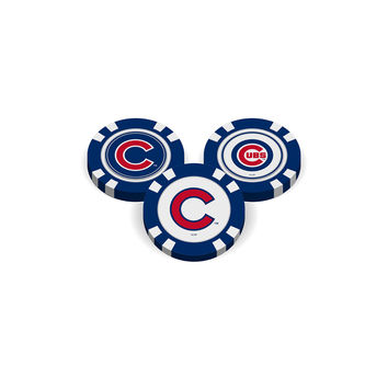 Chicago Cubs Golf Chip with Marker - Bulk