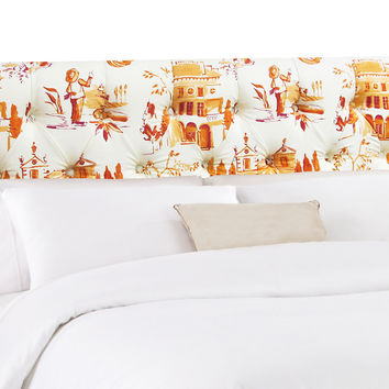 Ella Headboard, Orange/White, Headboards