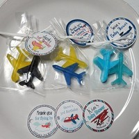 Airplane Birthday Party - Custom Made Soap Party Favors with Personalized Tags for baby shower, Wedding, Bridal Shower - Pack of 10