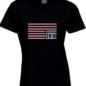 House Of Card Underwood Womens T Shirt