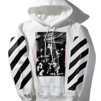 Off White Winter Hats Pullover Hoodies Jacket