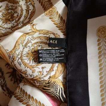 Versace Pure Silk Scarf 34 X 34' Very Good Condition