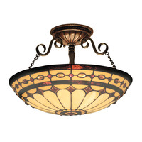 ELK Diamond Ring 3-Light Semi Flush In Burnished Copper - 641-BC