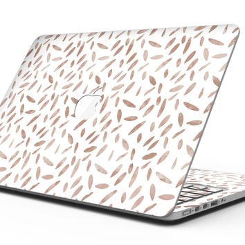 Brown Watercolor Pedals - MacBook Pro with Retina Display Full-Coverage Skin Kit