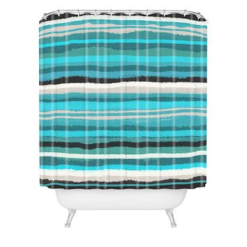 Viviana Gonzalez Painting Stripes 01 Shower Curtain