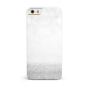 Silver and White Unfocused Sparkle Orbs iPhone 5/5S/SE INK-Fuzed Case