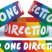 Rainbow One Direction Wristband 1D Merchandise Wrist Band Bracelet Clothing