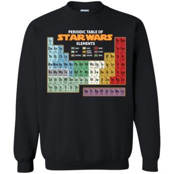 Star Wars Periodic Table of Elements Graphic T-Shirt G180 Gildan Crewneck Pullover Sweatshirt  8 oz.