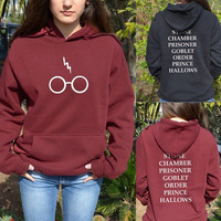 Harry Potter Hoddie Hoody Glasses Hogwarts Alumni Book Titles Sweater Sweatshirt