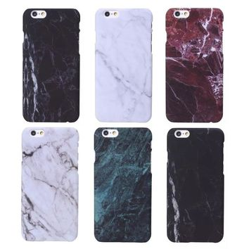 For iPhone 6 6S 7 8 Plus X 5 5s 5SE Cases New Marble Stone Image Pattern Printing Phone Case Cover for iPhone 7 Hard Plastic