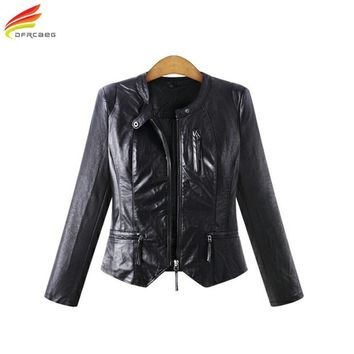Trendy Winter Women PU Leather Jackets Casual Big Size Outerwear Black Long Sleeve Women Basic Jacket Coats Plus Size Women Clothing AT_94_13