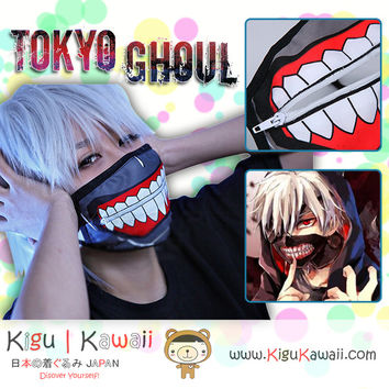 New Kaneki Ken - Tokyo Ghoul Anime Cosplay Costume Accesory Dust Proof Mask Face Mask With or Without Zipper KK586