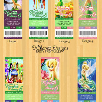 Tinkerbell Party Invitation (Ticket Style)