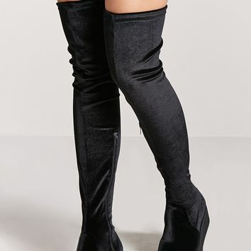 Over-the-Knee Velvet Boots
