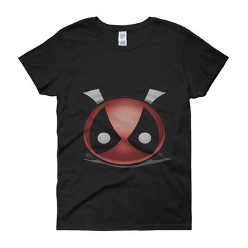 Disney Tsum Tsum Deadpool Funny Women'S T Shirt