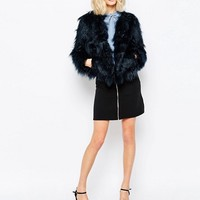 First and I Key Faux Fur Jacket at asos.com