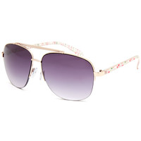 Full Tilt Flamingo Aviator Sunglasses Pink One Size For Women 25643335001