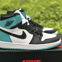 Air Jordan 1 Retro AJ1 Jade Black Toe Basketball Shoes US8-13