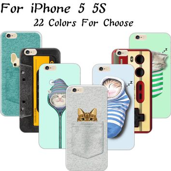 5/5S SE 4'' Hot!! Funny Cat Thick Lips Odd Girl Silicon Phone Cases For Apple iPhone 5 SE iPhone 5S iPhone5S Case Shell Cover