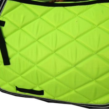 Green English saddle pad