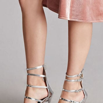 Strappy Metallic Stilettos