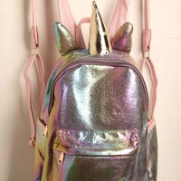 Holographic Unicorn Backpack