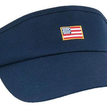 American Flag Patch Visor in Navy by Rowdy Gentleman - FINAL SALE