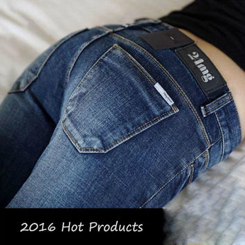 New Fashion Sexy Slim Fit Jeans Women Pencil Pants Autumn And Winter Skinny Trousers For Lady Jeans Femme Plus Size