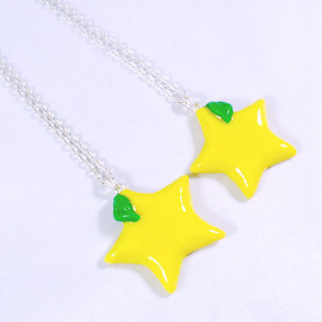 Kingdom Hearts Paopu Fruit BFF Necklaces, For You and A Friend, Cute, Kawaii :D