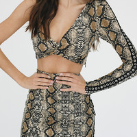 I.AM.GIA Viper Snakeskin Skirt