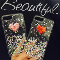 Lovely heart printed plastic Case Cover for Apple iPhone 7 7Plus 6 Plus 6 -05011