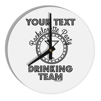 """Personalized -Name- Bachelorette Party Drinking Team 8"""" Round Wall Clock"""