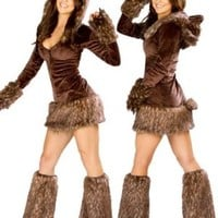 Sexy Teddy Bear Complete Costume - MEDIUM