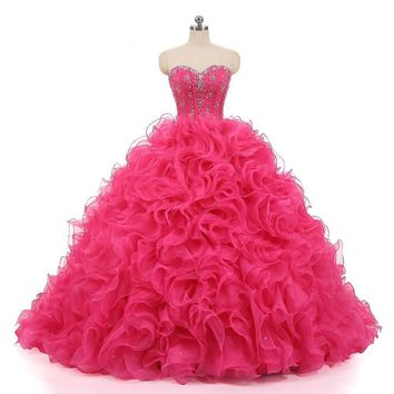 Dresses With Bolero ruffles Beads Dresses Ball Gowns