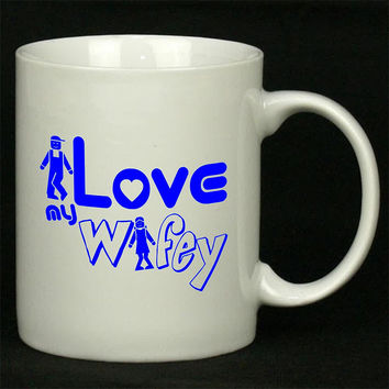 Wifey Blue For Ceramic Mugs Coffee *