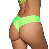 Neon Green Medium Booty Shorts  Strippers Clothes