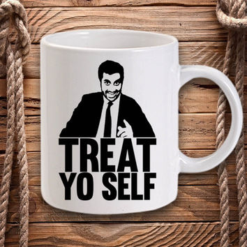 ON SALE Treat Yo Self for Mug design by DarastyShop
