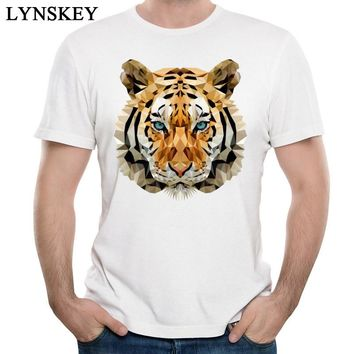 LYNSKEY Cool Design Tops Men's Tiger Printed T-Shirts Summer/Fall Short Sleeve Tees Cotton Fabric Round Neck Casual Sweatshirts