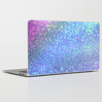 PINK PURPLE GLITTER Laptop & iPad Skin by Haroulita